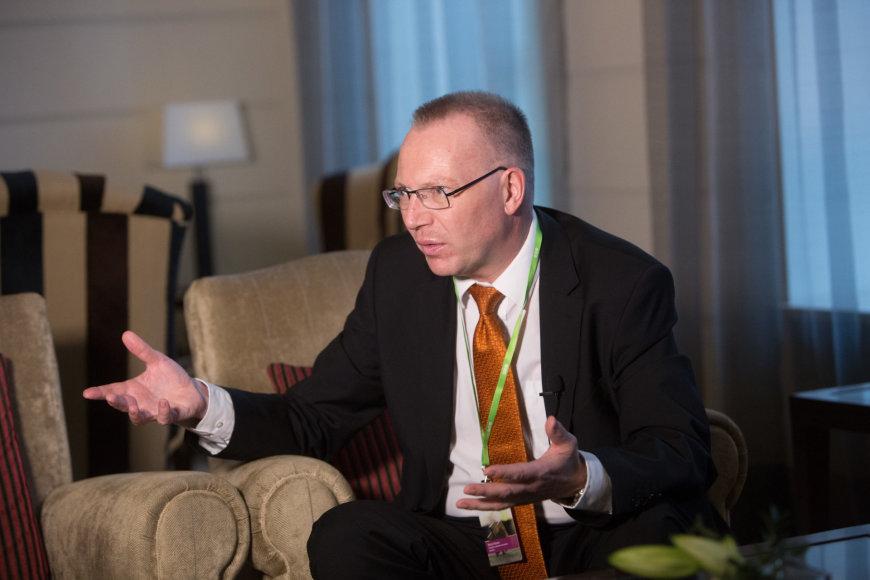 Juliaus Kalinsko/15min.lt nuotr./Stokholmo aukštosios ekonomikos mokyklos Rygoje Ekonomikos fakulteto vadovas Mortenas Hansenas