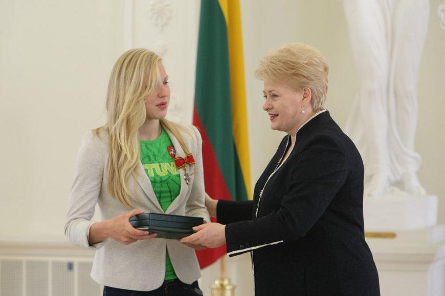 Dalia Grybauskaitė ir Rūta Meilutytė