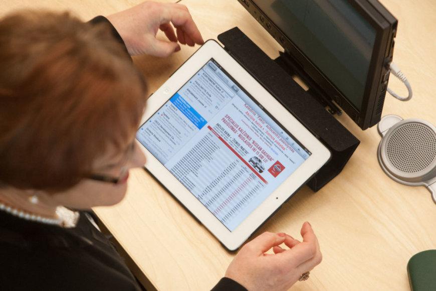 Birutės Vėsaitės planšetinis kompiuteris