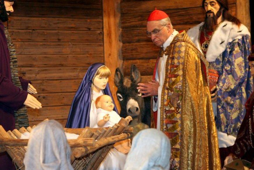 Kardinolas Audrys Juozas Bačkis lanko prakartėlę