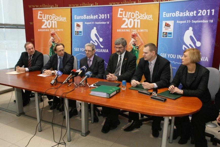 Pasirašyta sutartis dėl 2011 metų Europos vyrų krepšinio čempionato organizavimo