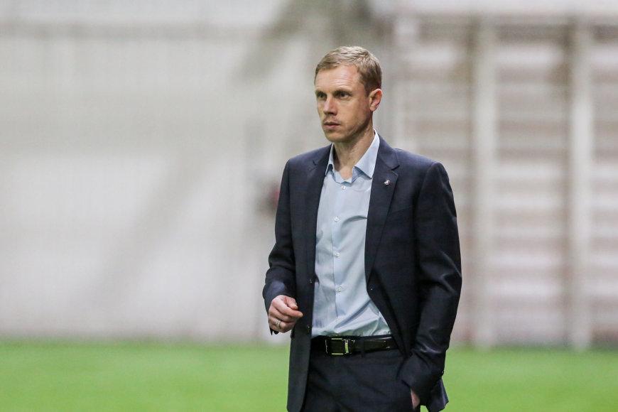 "Juliaus Kalinsko / 15min nuotr./""Trakų"" treneris Olegas Vasilenka"