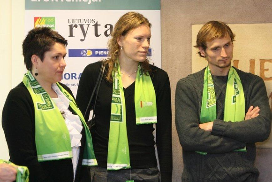 Daina Gudzinevičiūtė, Austra Skujytė ir  Edvinas Krungolcas