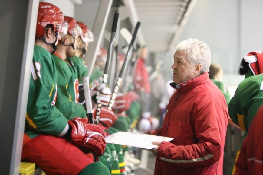 Lietuvos vyrų ledo ritulio rinktinės vyriausiasis treneris Sergejus Borisovas
