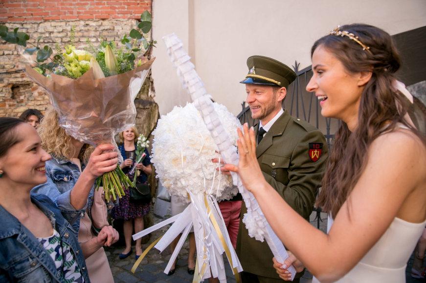 Juliaus Kalinsko / 15min nuotr./Tomo Balžeko ir Andrės Balžekienės vestuvių akimirka