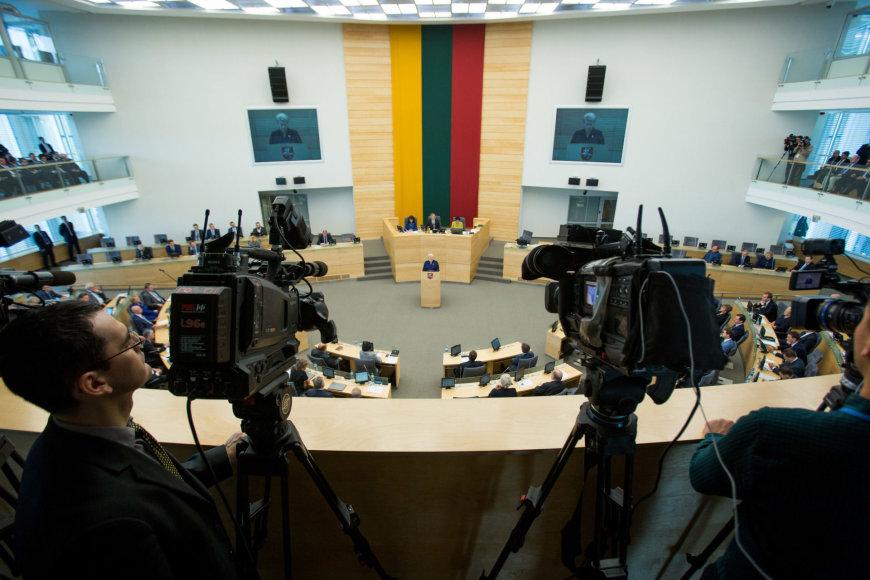 Juliaus Kalinsko / 15min nuotr./Dalios Grybauskaitės metinis pokalbis