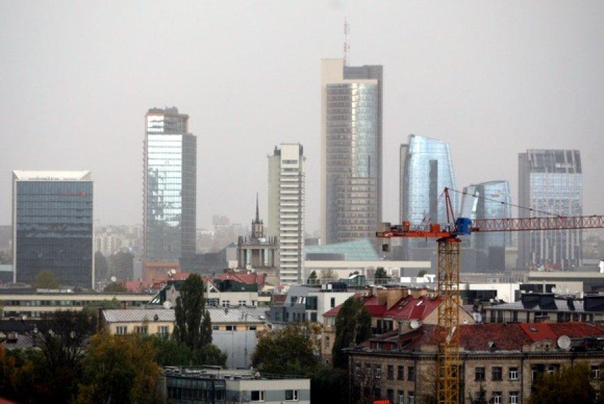 Lietingas oras Vilniuje
