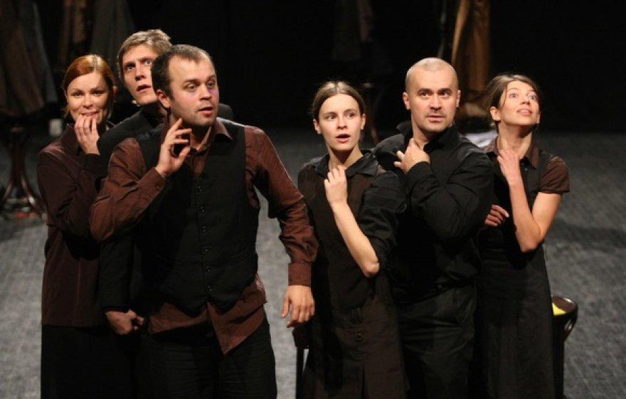 """Spektaklio """"Gerbiami piliečiai!"""" repeticija"""