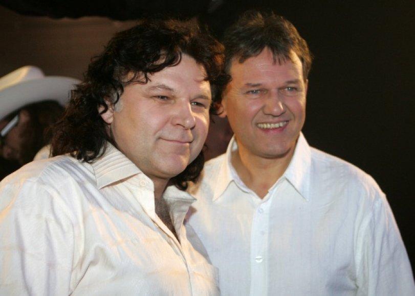 Romas Dambrauskas (kairėje) ir Edmondas Čivinskas