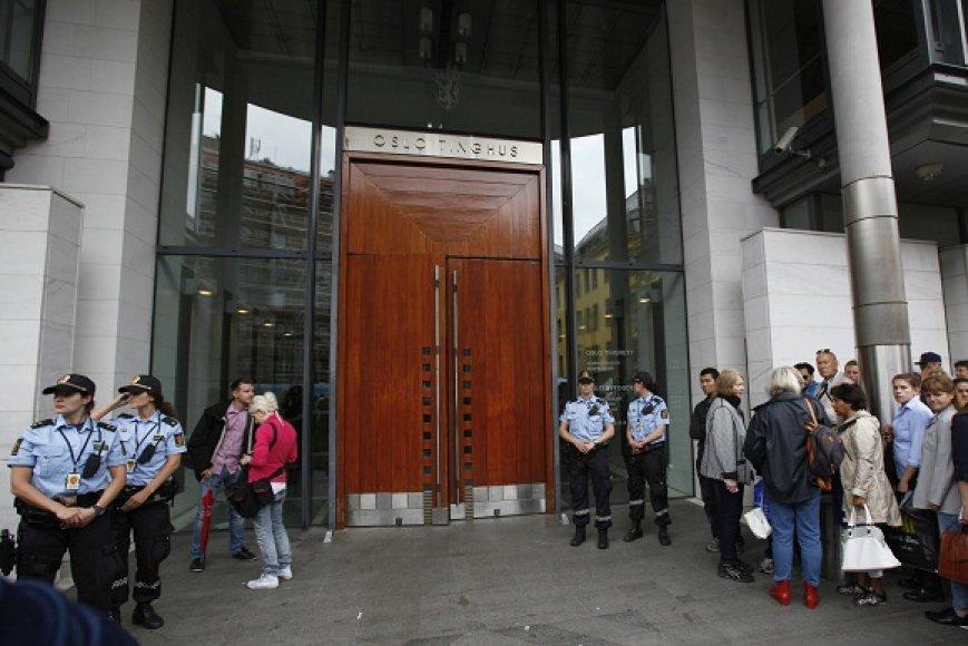 Teismas, kuriame už uždarų durų vyksta Anderso Behringo Breiviko išklausymas