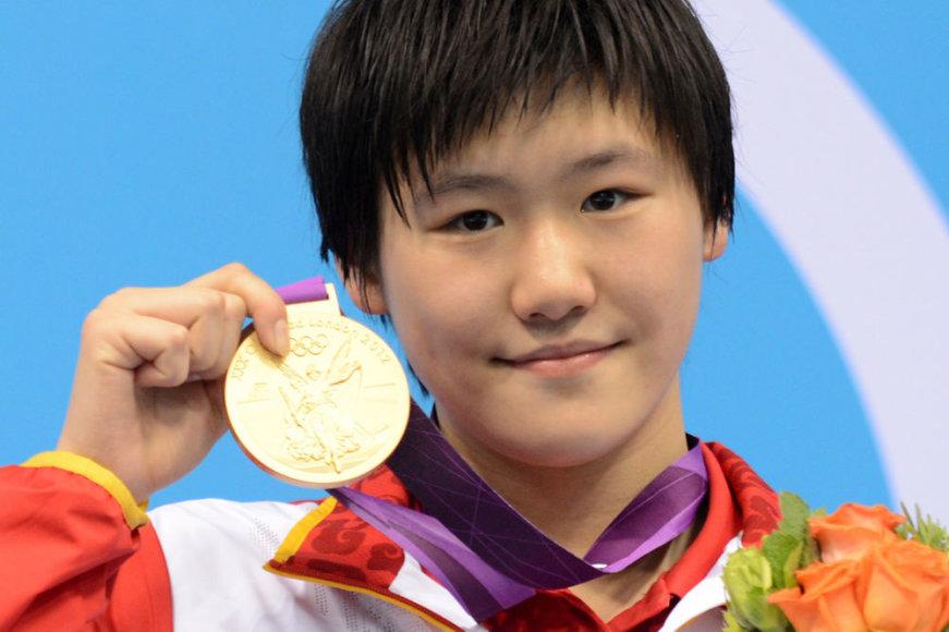 16-metė olimpinė čempionė Ye Shiwen.