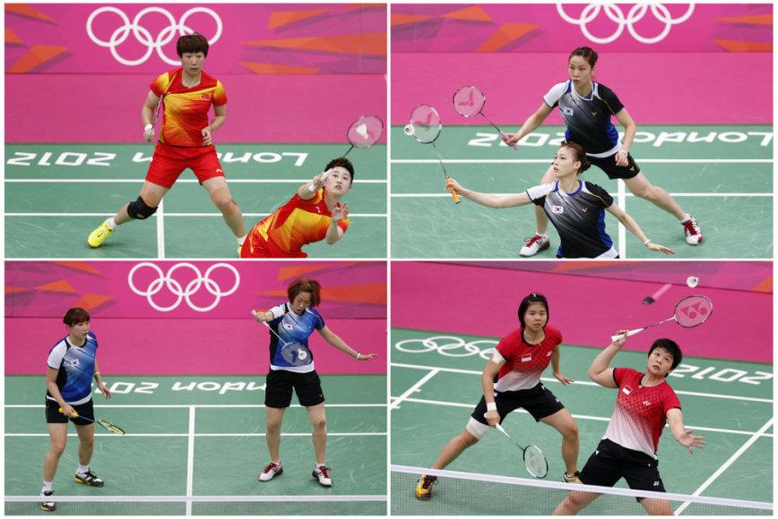 Iš olimpinių žaidynių pašalintos net aštuonios badmintonininkės.