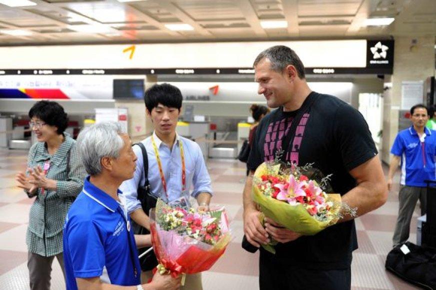 Virgilijus Alekna atvyko į Pietų Korėją