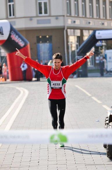 Maratono nugalėtojas baltarusis Dmitrijus Hryhoryevas