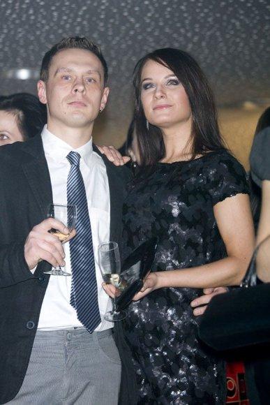 Simona Čėsnaitė su draugu