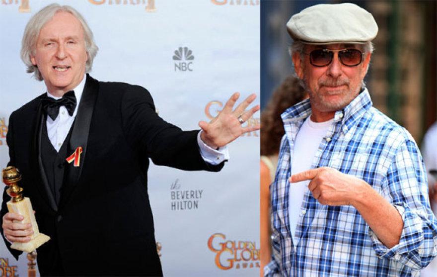 Jamesas Cameronas ir Stevenas Spielbergas