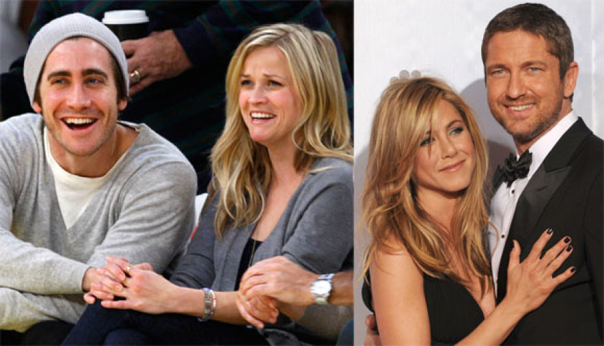 Jake'as Gyllenhaalas ir Reese Witherspoon, Jennifer Aniston ir Gerardas Butleris