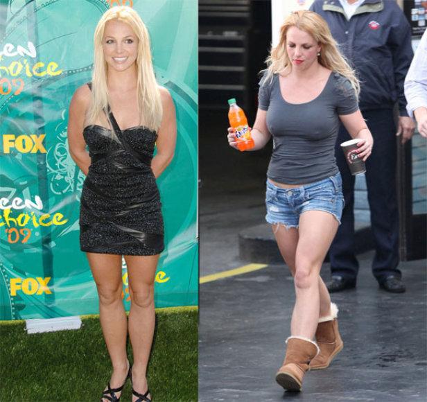 Britney Spears anksčiau ir dabar