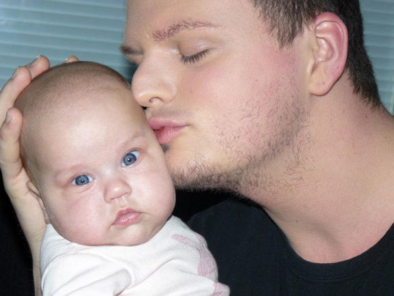 Ruslanas Kirilkinas su krikšto dukra