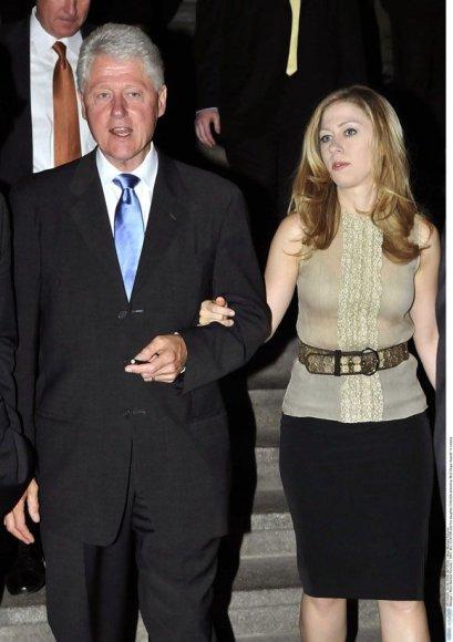 Billas Clintonas ir Chelsea Klinton