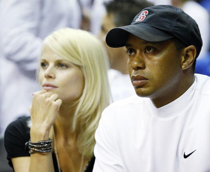 Elin Nordegren ir Tigeris Woodsas