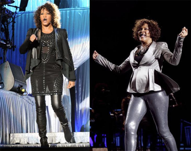 Whitney Houston anksčiau ir dabar