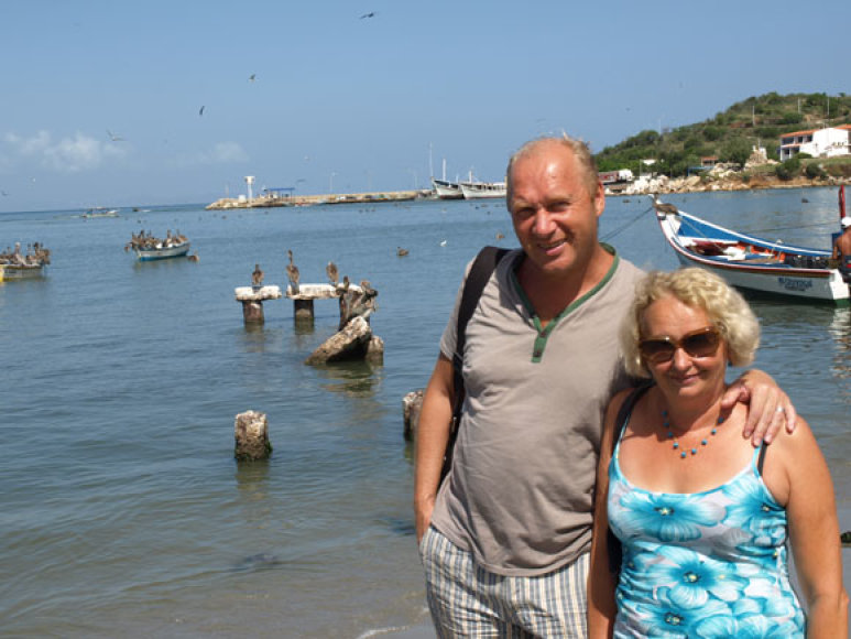 Jurijus Smoriginas su žmona Dalia 2010-aisiais Venesueloje