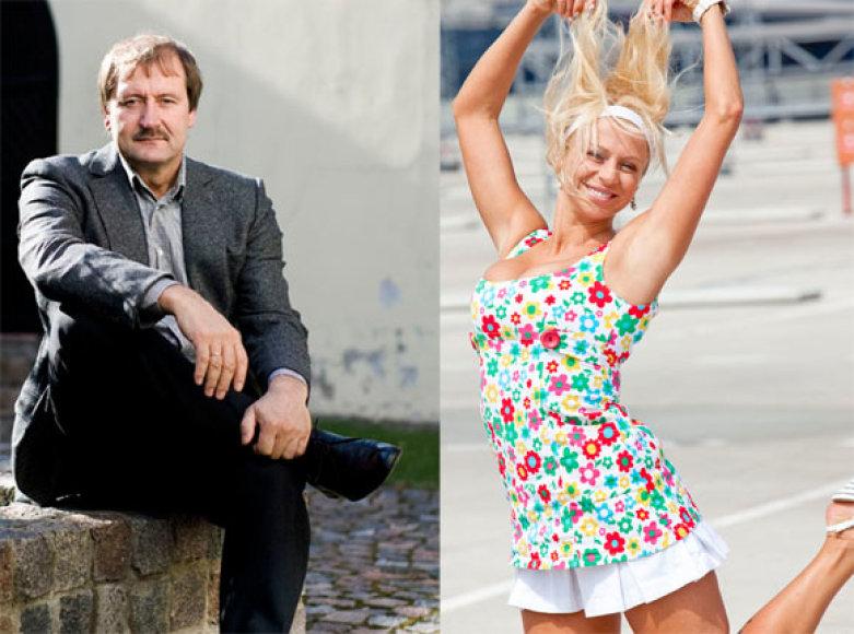 Viktoras Uspaskichas ir Erika Santos