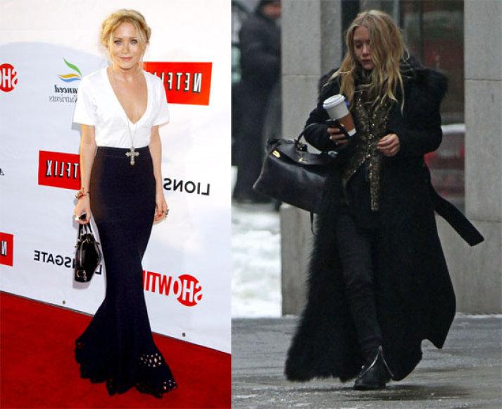 Mary Kate Olsen anksčiau ir dabar