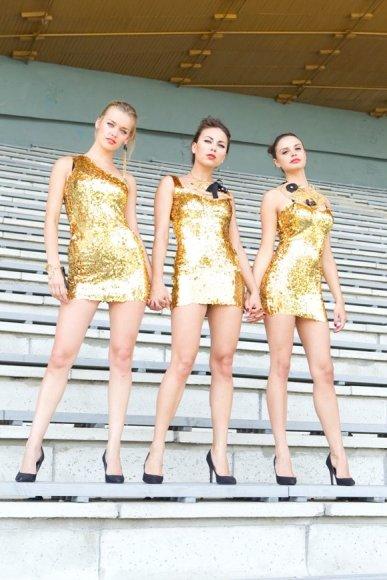 """Grupės """"Pinup Girls"""" narės"""