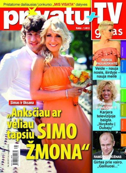 Oksana Pikul ir Simas Jasaitis