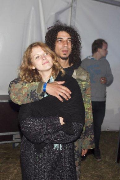 Viktoras Diawara su žmona Živile
