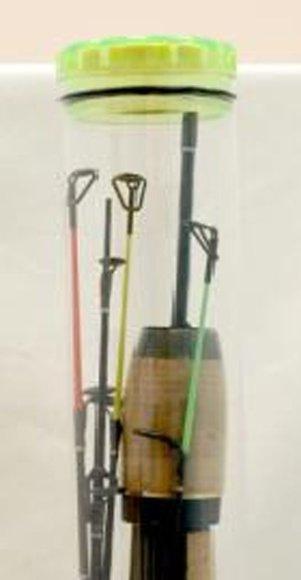 Kokteilio stiklinėje telpanti meškerė poledinei žūklei tikriausiai yra kompaktiškiausias tokio tipo įrankis