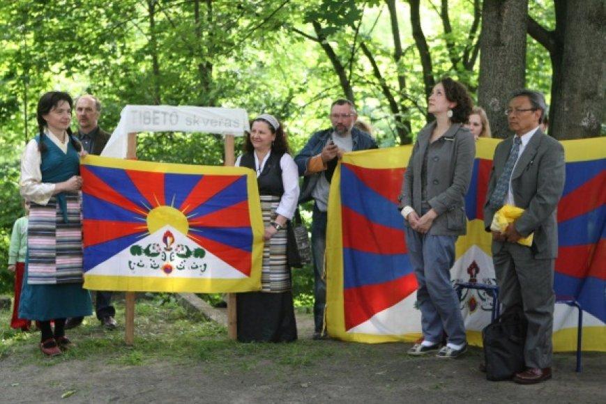 Buvęs bevardis skveras nuo šiol vadinasi Tibeto skveru.