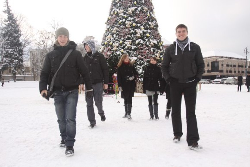Vilnių kalėdiniu laikotarpiu lanko ne tik užsienio turistai, bet ir svečiai iš kitų Lietuvos miestų.