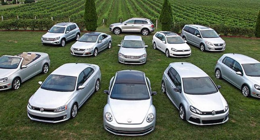 """Volkswagen"" modelių gama JAV"