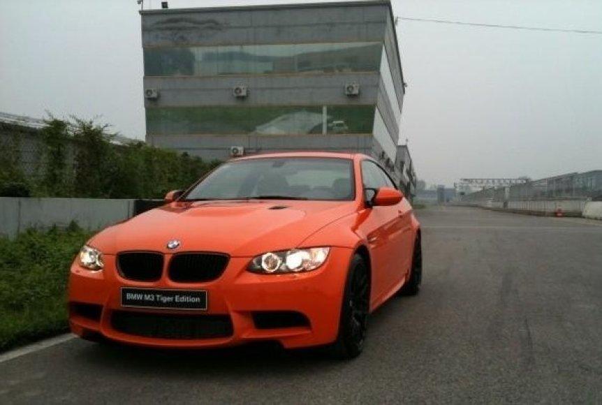 """Specialus BMW Kinijai - """"M3 Tiger Edition"""""""