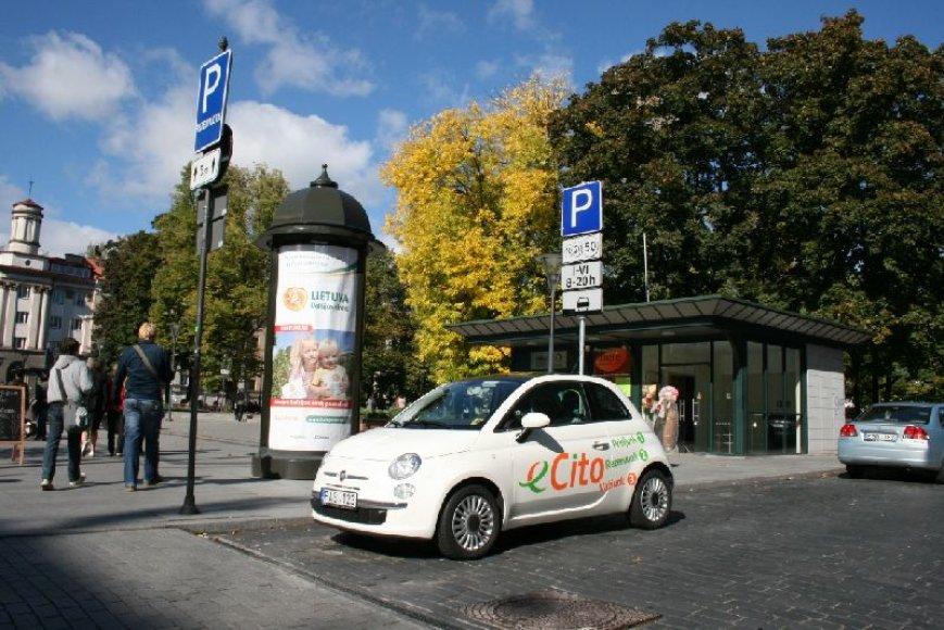 """Vilniaus senamiestyje įsteigta nauja """"eCito"""" automobilių aikštelė"""