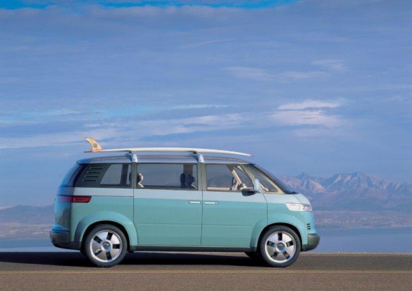 """2001 metų """"Volkswagen Microbus"""" koncepcija"""