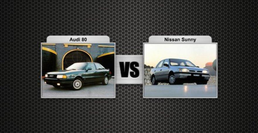 Audi 80 prieš Nissan Sunny