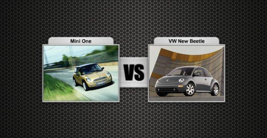 """MINI prieš """"VW Beetle"""""""