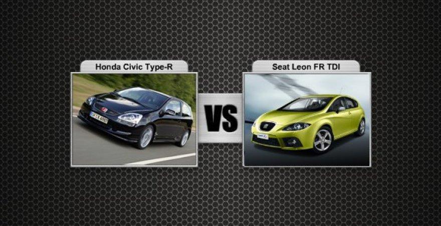 Honda Civic Type-R prieš Seat Leon FR TDI