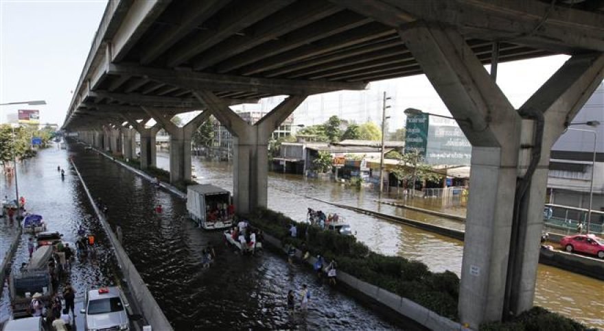 Potvynis Bankoko gatvėse