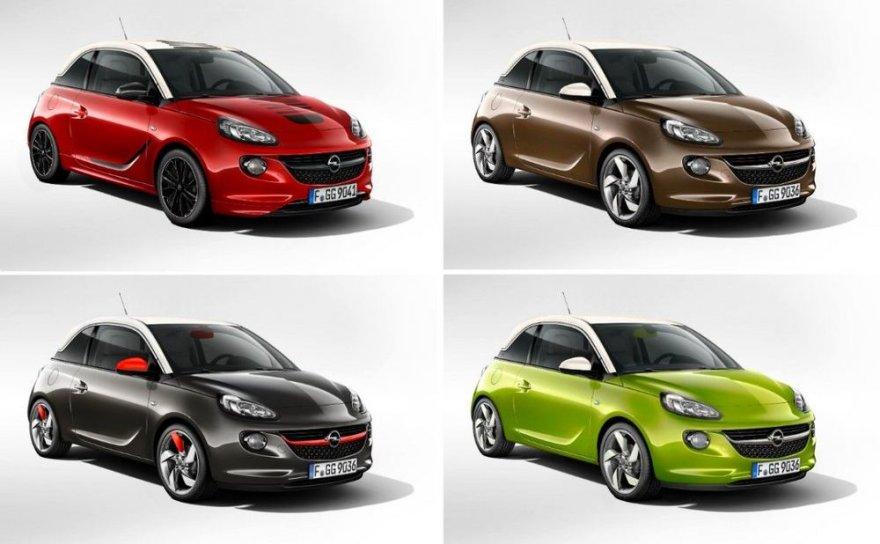 """Keturi """"Opel ADAM"""""""