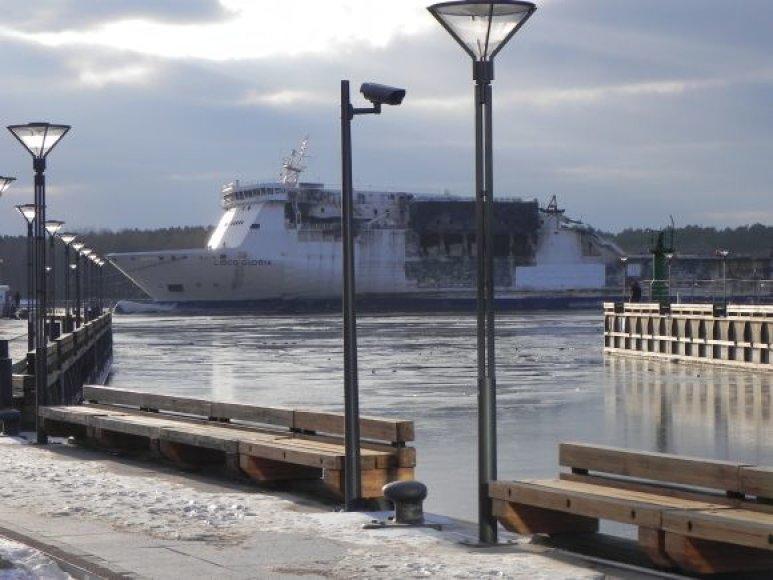 Keltas pro uosto buvo įtemptas vakar apie 16 val.