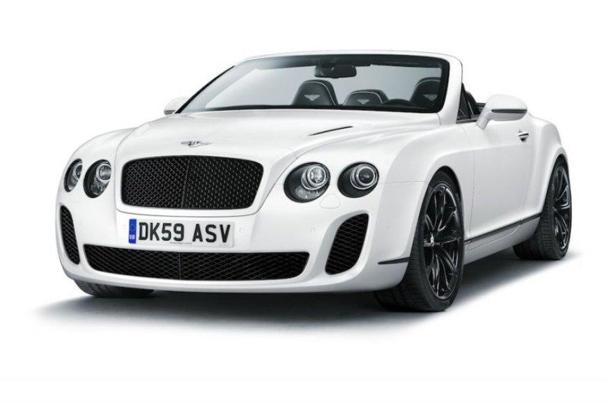 "Atskleistas ""Bentley Continental Supersports Convertible"""