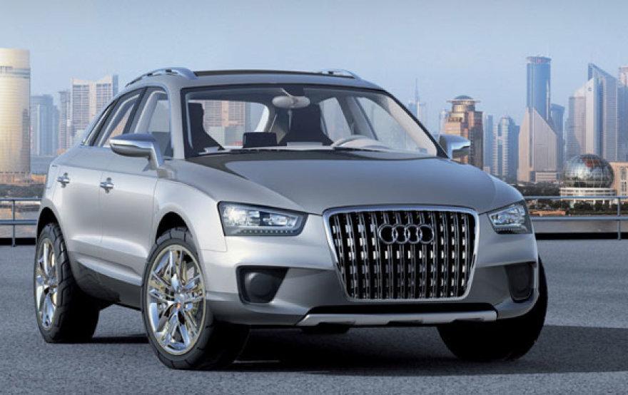 """Audi Q3"" debiutuos 2011 metais"