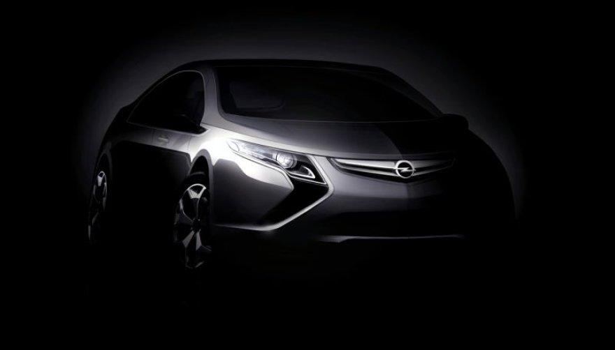 """Hibridinis """"Opel Ampera"""" debiutuos Ženevoje"""