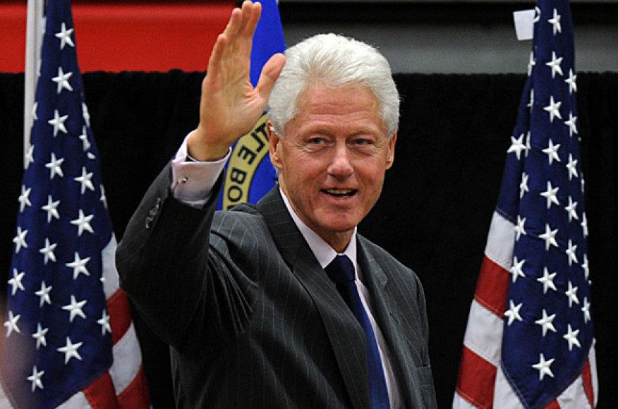 Buvęs JAV prezidentas Billas Clintonas gruodžio 2 dieną viešės Ciuriche