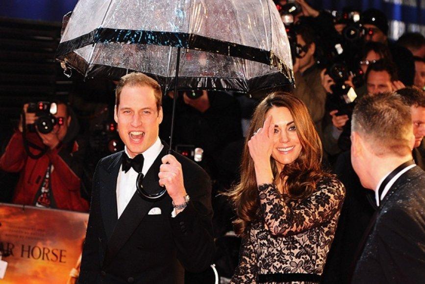 Princas Williamas ir Kembridžo kunigaikštienė Catherine